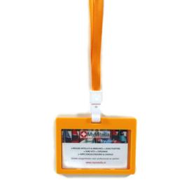 Badge + Lanyard oranje/oker