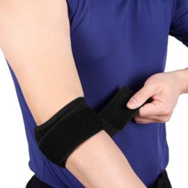 Elleboog Brace gelpad Comfort wrap around- Zwart