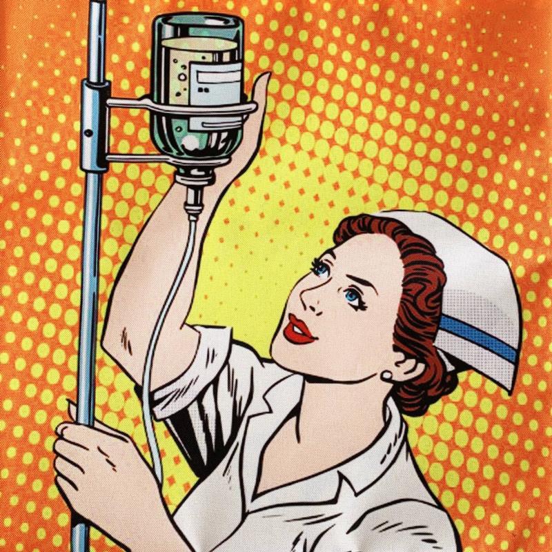 Verpleegkundige canvas tas Pop-Art - IV NURSE