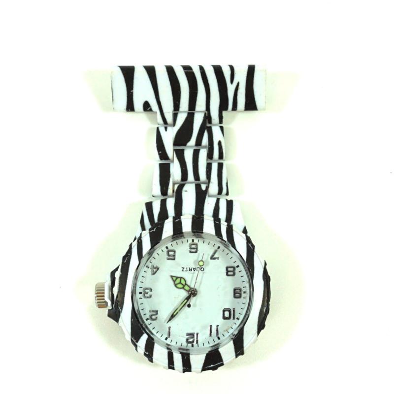 Verpleegkundige horloge schakel & print Zebra