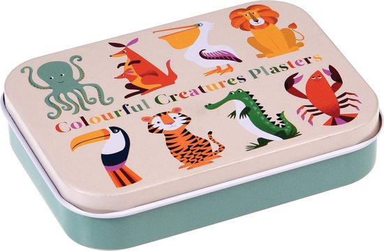 Pleisters in blikje - Kleurrijke dierenwereld - Rex London