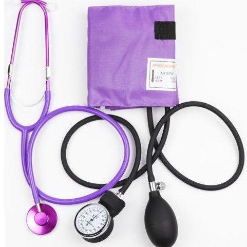 Set bloeddrukmeter & stethoscoop Lila paars