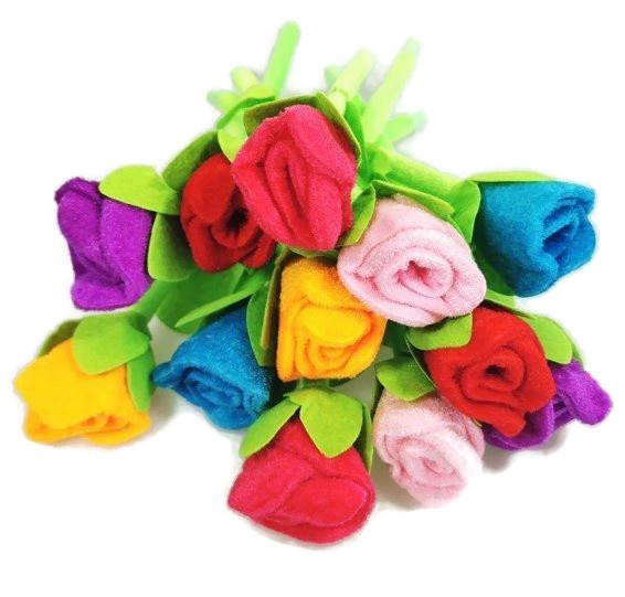 Bloemen Pen Roos Stof