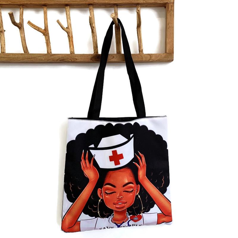 Verpleegkundige canvas tas Pop-Art SAVE PEOPLE