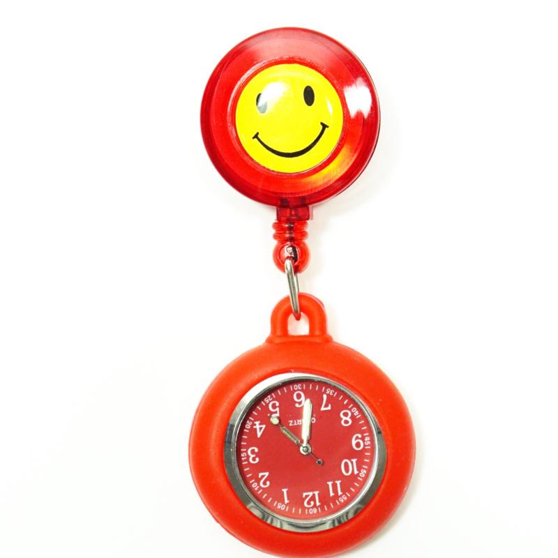 Verpleegstershorloge Happy Flex  Rood