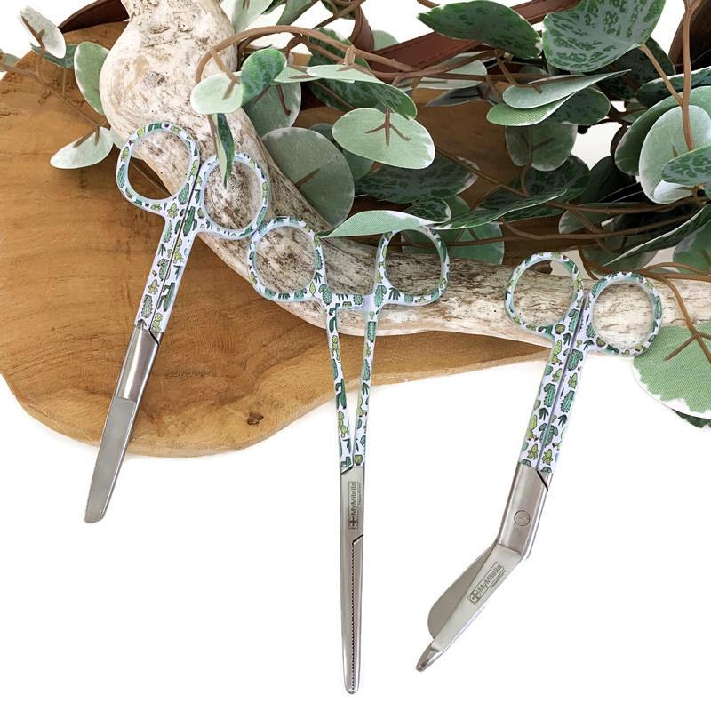 Scharenset Botanisch- Cactus (kocher - verpleegkundige schaar & verbandschaar)