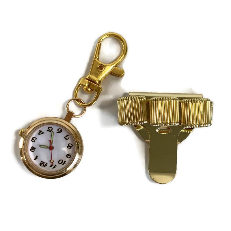 Set Time & Clip - Zorghorloge + Pennenclip (Goud)