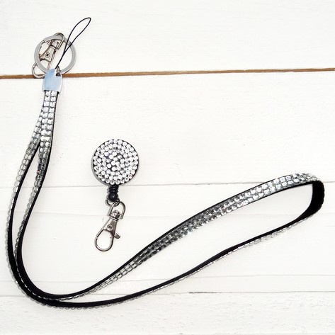Zipper -jojo & Keycord strass Zilver