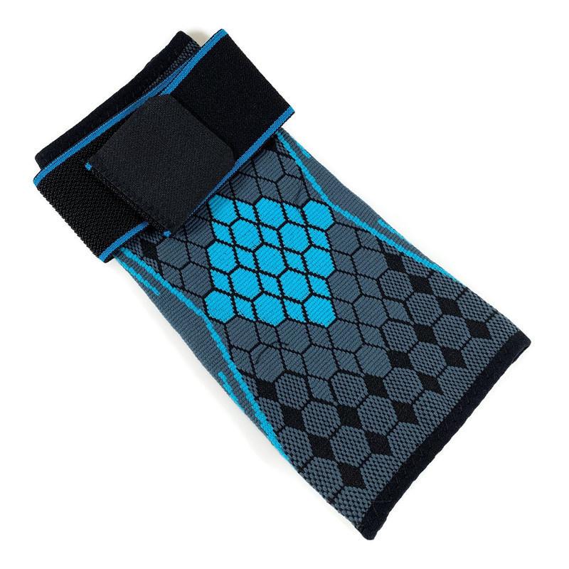 Elastische elleboog band- brace grijs-blauw