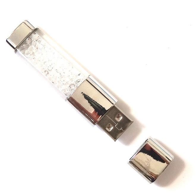 USB stick BLING BLING met strass steentjes WIT