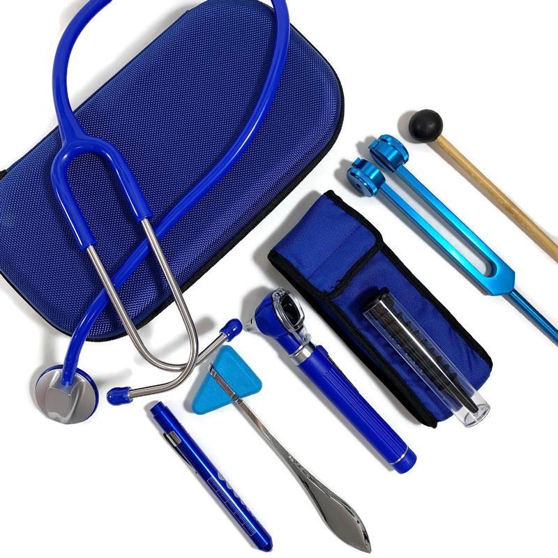 Stethoscoop + instrumenten  medici - blauw