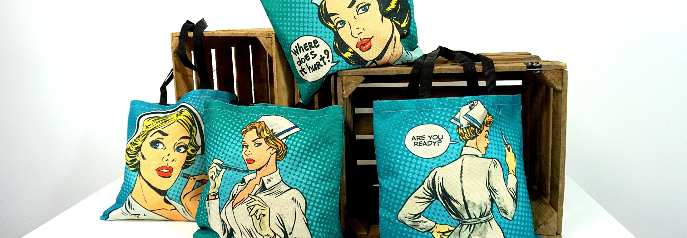Verpleegkundige Tassen Pop-Art zuster