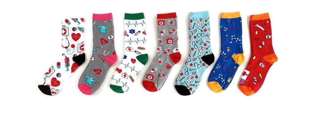 Zorg sokken - dokter - verpleegkundige