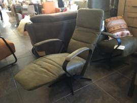 Relax fauteuil olijfgroen leverbaar vanaf 949,00