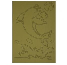 Kleurplaat dolfijn bal