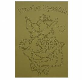 Kleurplaat bloemen you`re special