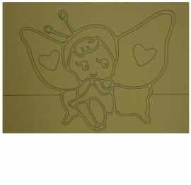 Kleurplaat vlindermeisje