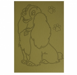 Kleurplaat hondje lady