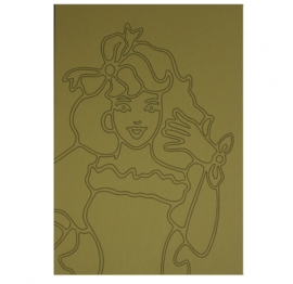 Kleurplaat prinses 1