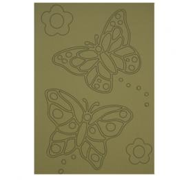 Kleurplaat vlinders met bloemen
