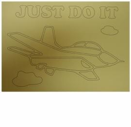 Kleurplaat vliegtuig just do it