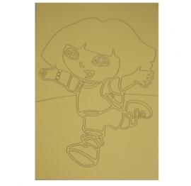 Kleurplaat Dora rennend