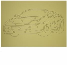 Kleurplaat auto 4