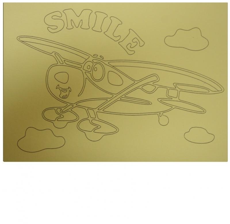 Kleurplaat vliegtuig smile