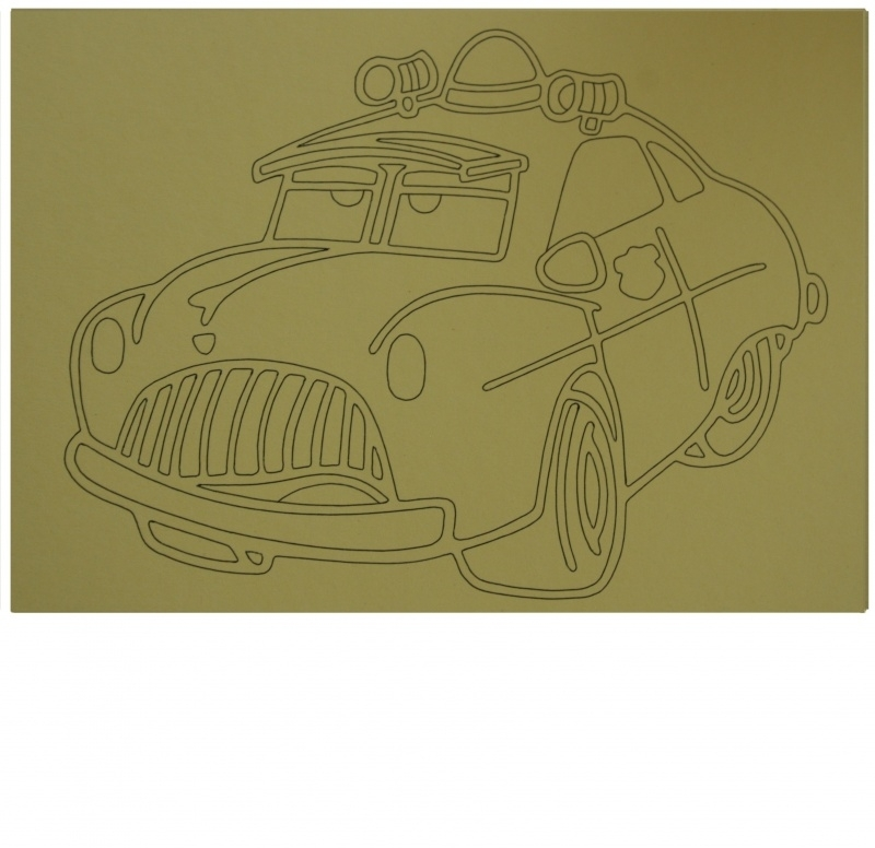 Kleurplaat auto 2