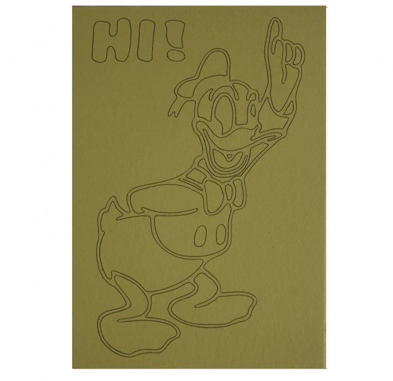 Kleurplaat donald duck hi