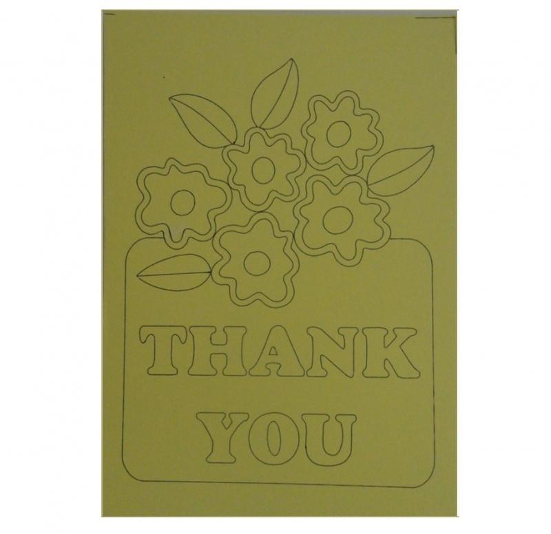 Kleurplaat bloemen thank you