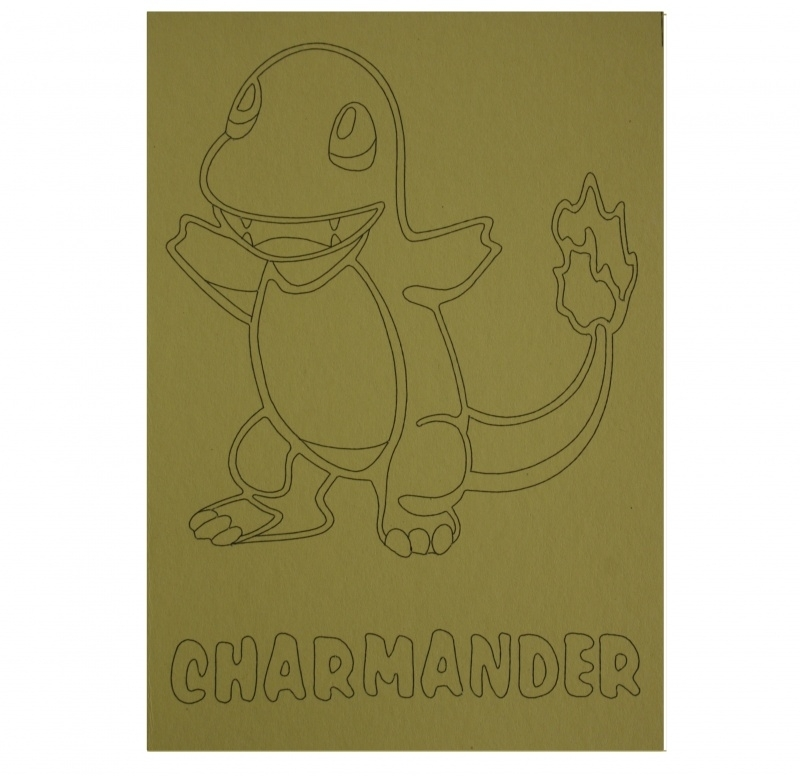 Kleurplaat pokemon charmander