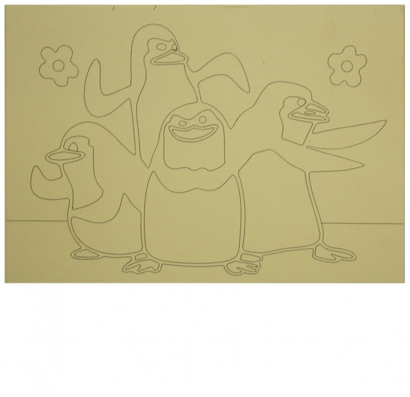 Kleurplaat madagascar Pinguins