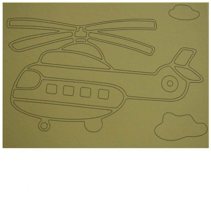 Kleurplaat helicopter