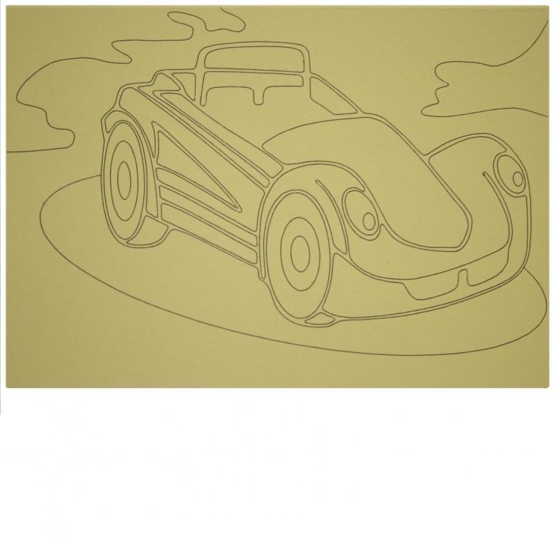 Kleurplaat auto 7