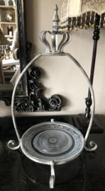 Metaal Etagère Glas bord en Kroon 38(b) x 55,5(h) cm