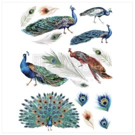 Decor Transfer Peacock Dreams ca. 61 x 83 cm