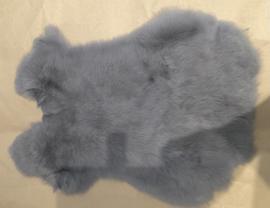 Konijn vel 7 blauw grijs 30 x 40 cm