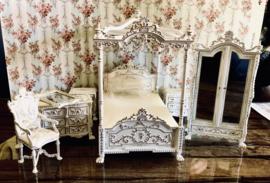 Prachtige Luxe Slaapkamer Set Wit 1:12