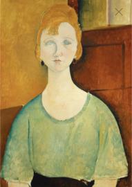 Woman in a green top - Mint by Michelle Decoupage papier-A3