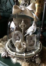 Kleine Stolp opgemaakt in Zilver / Wit