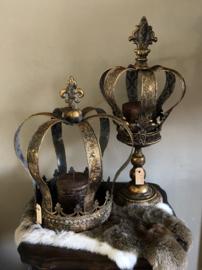 Grote kroon metaal, Goudkleur 32(b)x40(h)cm