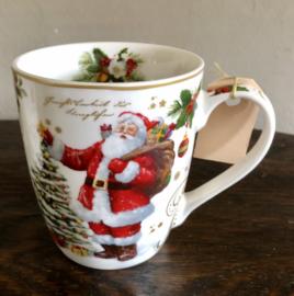 Kerst Mok Kerstman 9,5(h)cm