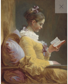 Young girl reading REVERSED - Mint by Michelle decoupage papier -A1