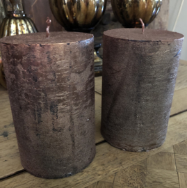 Grote Kaars 10(b) x 15(h) cm Copper