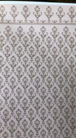 Vel Behang Lichtzalm Beige 30 x 44 cm