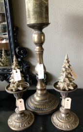 Kerstboom S Goudkleur 8(b) x 14(h)cm