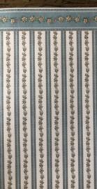 Vel Behang Streep Blauw 30 x 44 cm