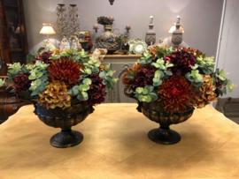 Opgemaakte Pot met bloemen