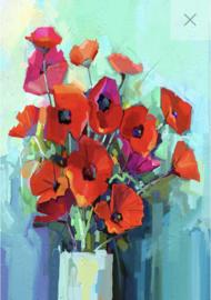 Poppies - Mint by Michelle Decoupage papier-A3